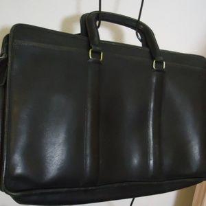 Vtg Black Coach Briefcase 11x17 Glove Leather USA
